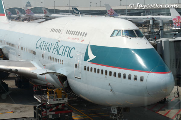 Un aereo Cathay Pacific