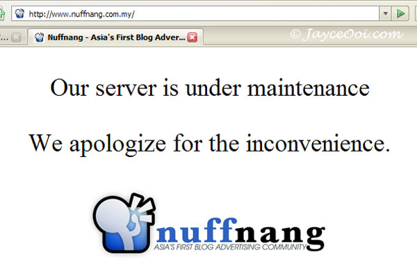 NUFFNANG Server Down For Emergency Maintenance