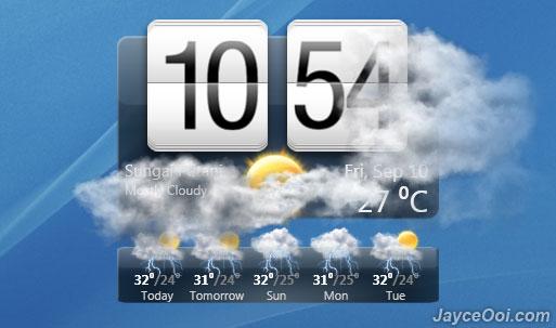 htc sense windows. HTC Sense Weather/Clock Widget