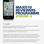 Jayce was selected for Maxis 10 Reviewers Programme – iPhone 4