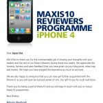 Thanks Maxis for the lovely Apple iPhone 4