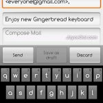 Download Android 2.3 Gingerbread keyboard for Android 2.2 Froyo