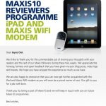 Thanks Maxis for Apple iPad and Maxis WiFi Modem