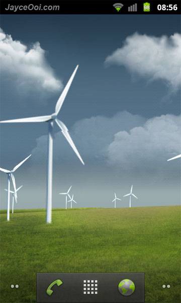 Samsung Galaxy S II Live Wallpaper Windmills