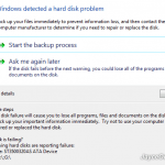 Hard drive failure symptoms