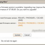 How to upgrade Samsung Galaxy S2 firmware with Samsung Kies?