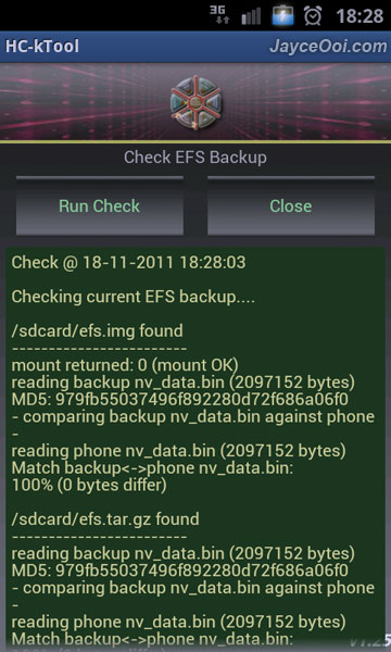 How to backup / restore Samsung Galaxy S2 EFS?