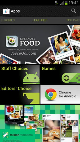google play store pour tablette android 4.1.1