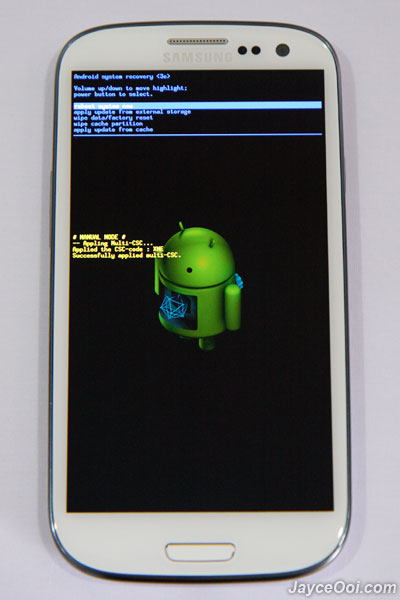 samsung galaxy s recovery mode