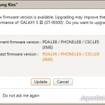 How to upgrade Samsung Galaxy S3 firmware with Samsung Kies?