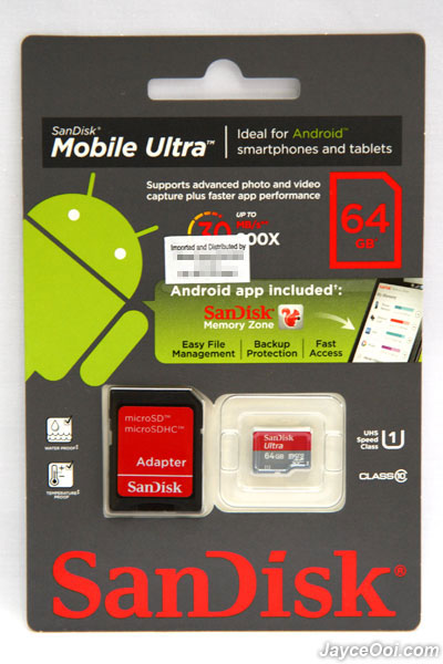 64gb sandisk ultra microsdxc uhs i class 10 card review. Black Bedroom Furniture Sets. Home Design Ideas