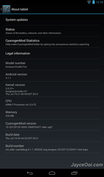 Download & Install Android 4.1 Jelly Bean CM10 ROM for Kindle Fire