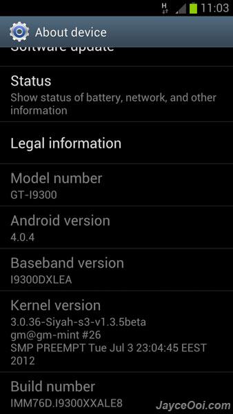 Samsung Galaxy S3 modem