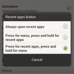 How to remove HTC One X 3 dots Menu soft button?