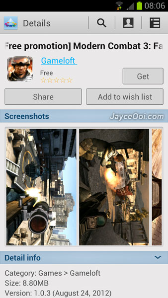 Download free games for Samsung Galaxy S3 ~ Modern Combat ...