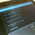 Google Nexus 7 ClockworkMod Touch Recovery