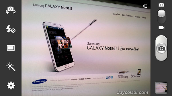 Samsung Galaxy Note 2 camera