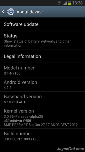 Official Samsung Galaxy Note 2 firmware