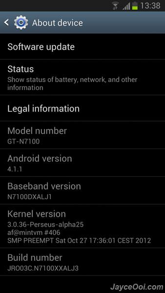 Official Samsung Galaxy Note 2 Modem