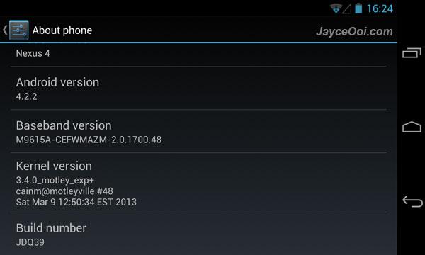 motley kernel for Nexus 4