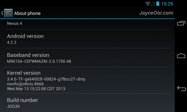 Trinity Four Kernel for LG Nexus 4