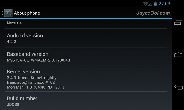 franco Kernel for LG Nexus 4