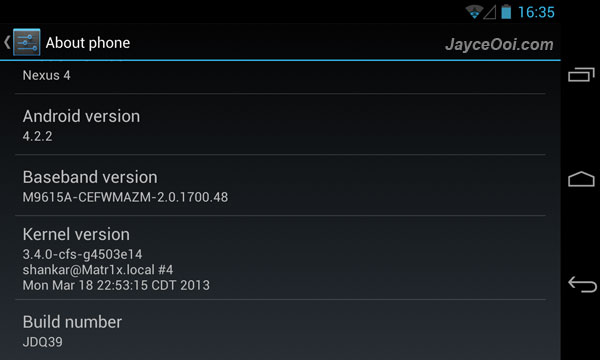 Matr1x Kernel for LG Nexus 4