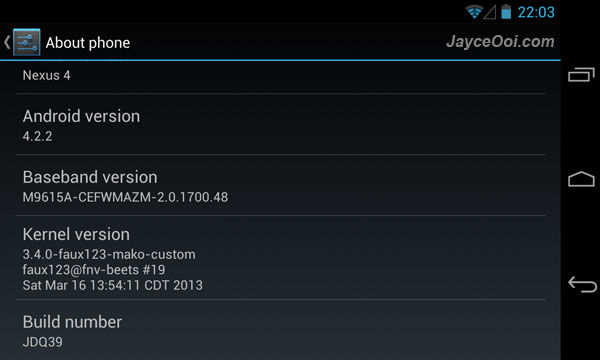 faux123 Kernel for LG Nexus 4
