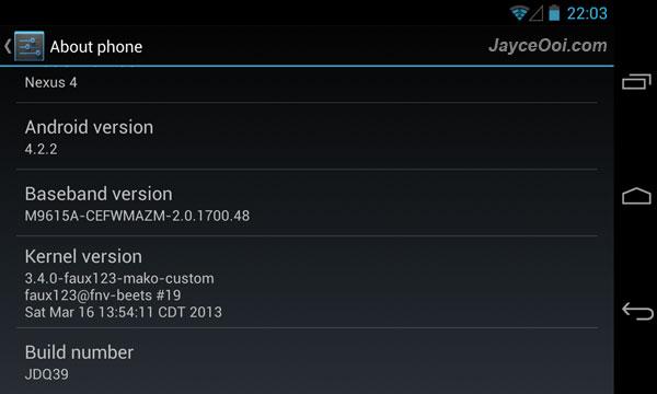 faux123 Kernel for LG Nexus 4