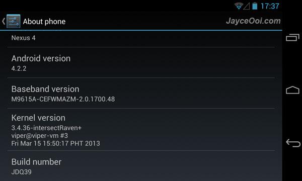 intersectRaven Kernel for LG Nexus 4