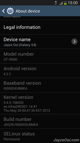 official Galaxy S4 firmware