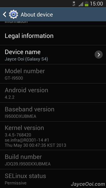 Galaxy S4 Modem