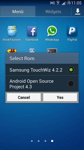 Dual boot Galaxy Note 2