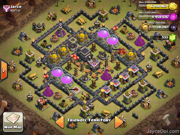 Best Clash of Clans TH9 Anti-Hog Unlurable CC War / Trophy