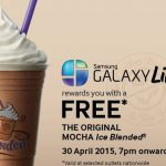 Free mocha ice blended from The Coffee Bean & Tea Leaf