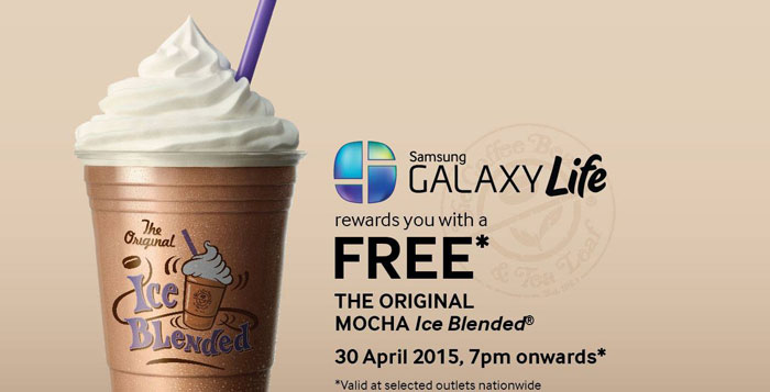 Free Mocha Ice Blended From The Coffee Bean Amp Tea Leaf