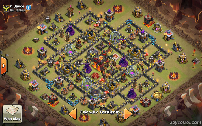 best clash of clans th10 unlurable cc war trophy base layout. Black Bedroom Furniture Sets. Home Design Ideas