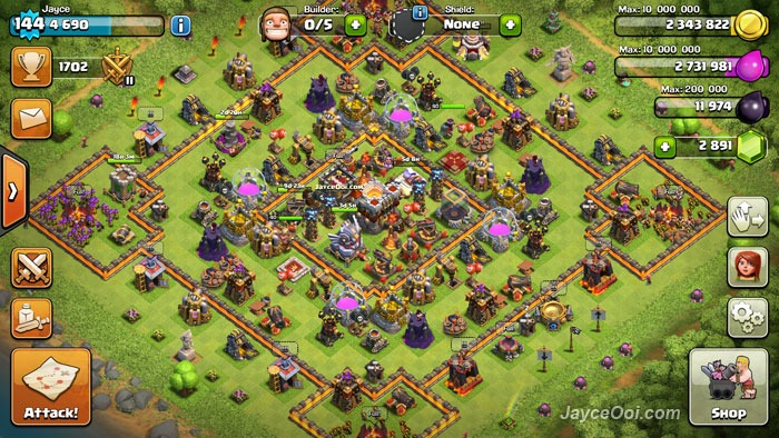 Best clash of clans th11 unlurable cc war trophy base layout