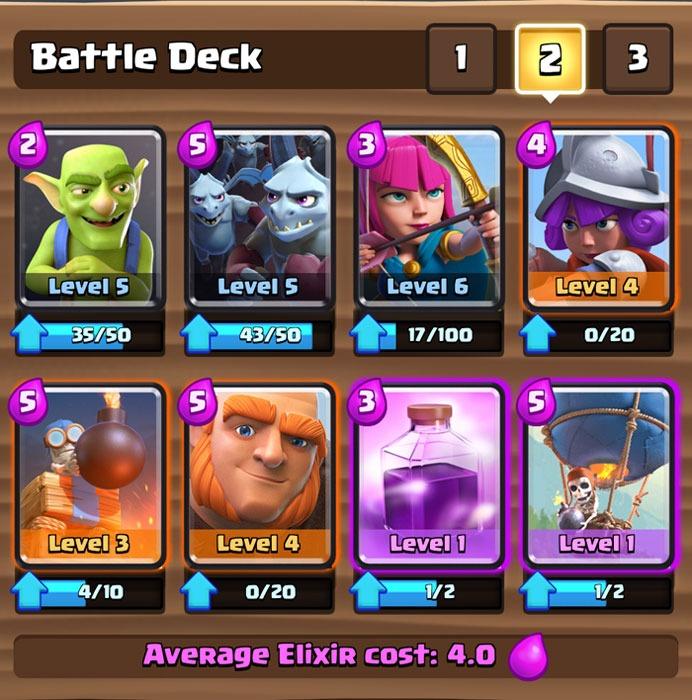clash royale deck battle cards card jayceooi