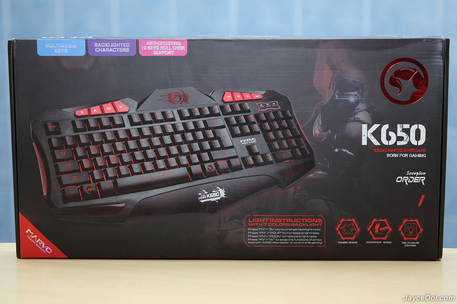 how to change led color on modal gaming keyboard