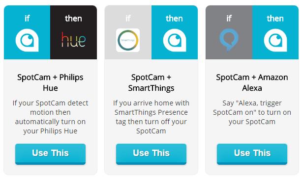 SpotCam-Sense-IFTTT