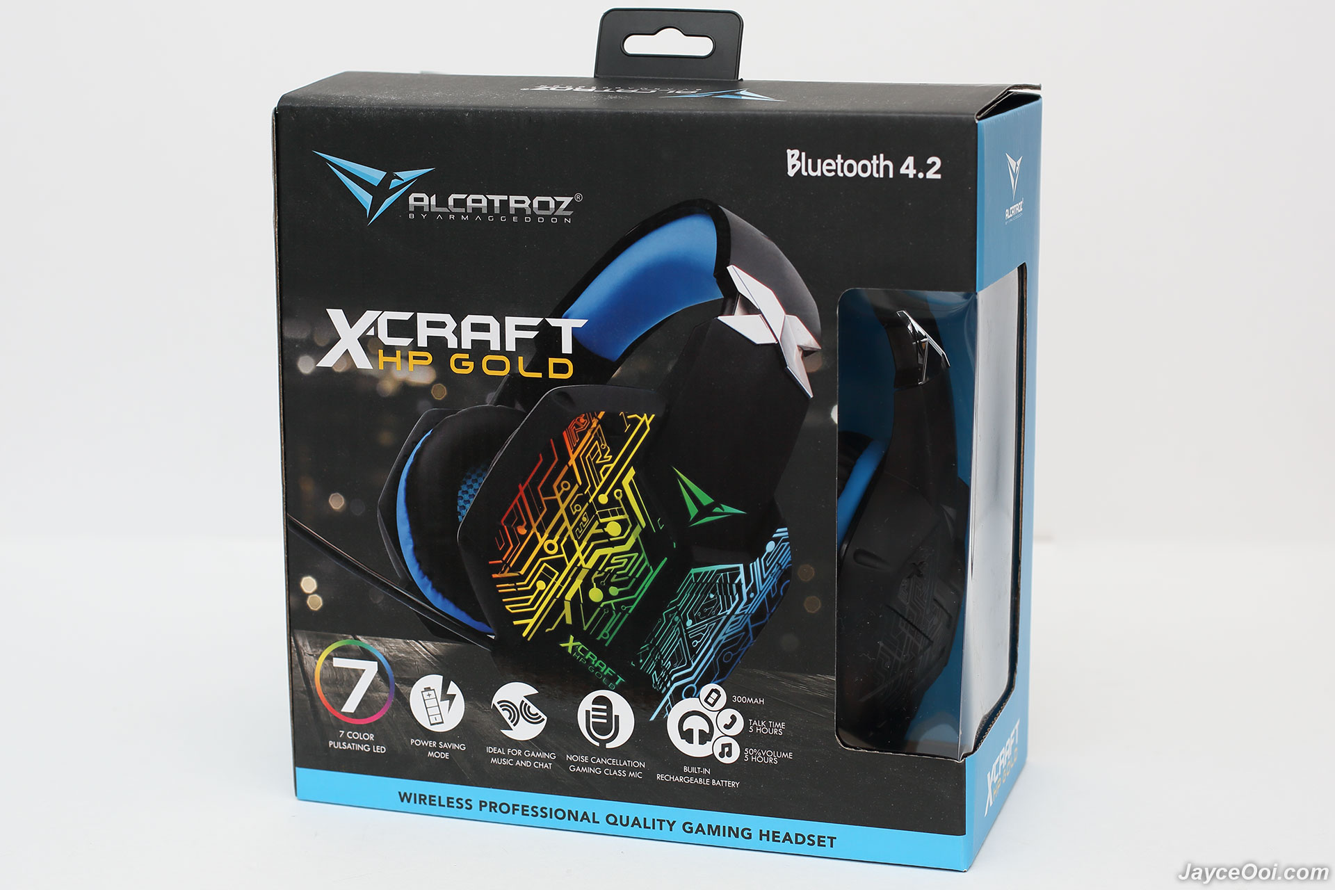 Image result for Alcatroz X-Craft HP Gold 8000 Bluetooth Mobile Gaming Headphones